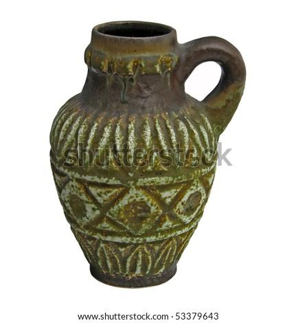wine pitcher. old wine goblet. - stock photo