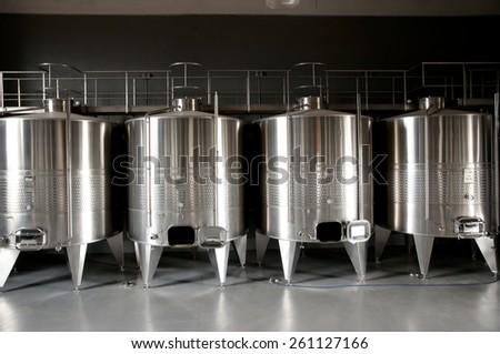 Wine Tanks - stock photo