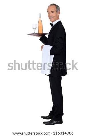 Wine waiter - stock photo