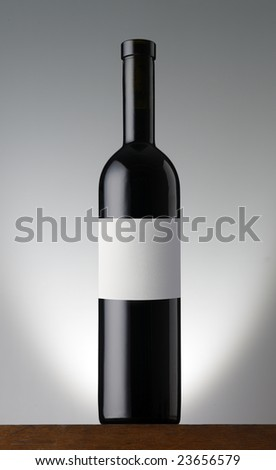 Winebottle - stock photo