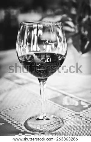 wineglass vintage - stock photo