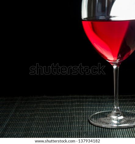 Wineglass with red wine
