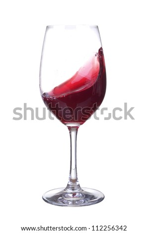 Wineglass with wine. Abstract drink composition - stock photo