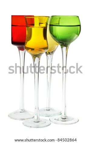 Wineglasses on Isolated White Background