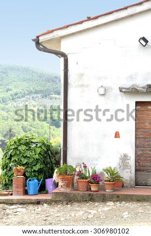 Winery Montefioralle Greve in Chianti Tuscany Italy - stock photo