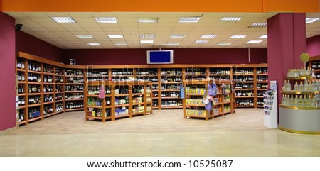 wines in store - stock photo
