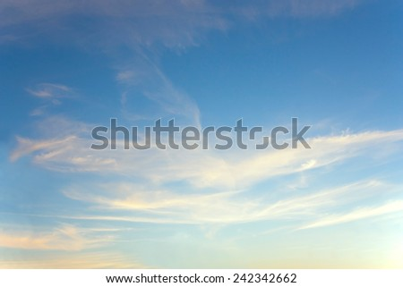 wings of the clouds in the sky  - stock photo
