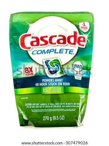 Winneconne, WI - 18 August 2015:  Bag of Cascade Complete action pacs with Dawn