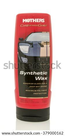Winneconne, WI - 19 Feb 2016:  Bottle of Mothers Synthetic wax - stock photo