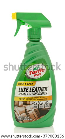 Winneconne, WI - 19 Feb 2016:  Bottle of Turtle Wax Luxe leather cleaner - stock photo