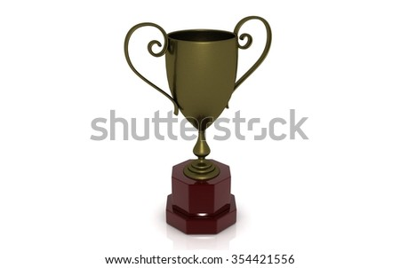 Winner cup. High resolution. 3D render - stock photo
