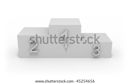 Winner Pedestal - stock photo