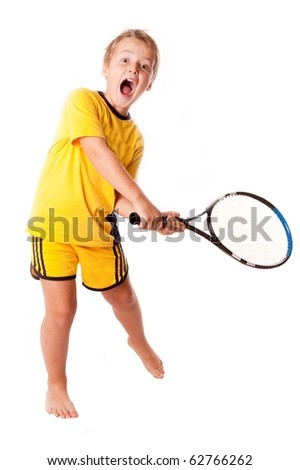 winning backhand - stock photo