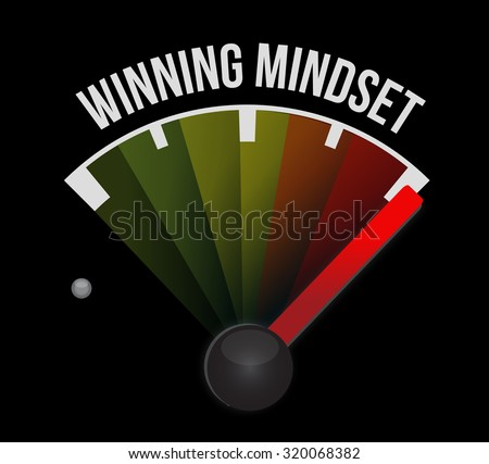 winning mindset meter sign concept illustration design graphic icon - stock photo