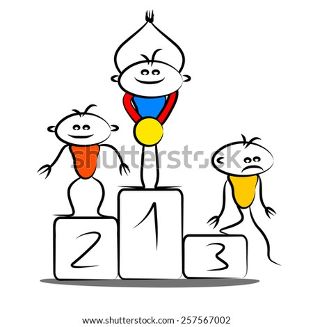 Winning podium - stock photo