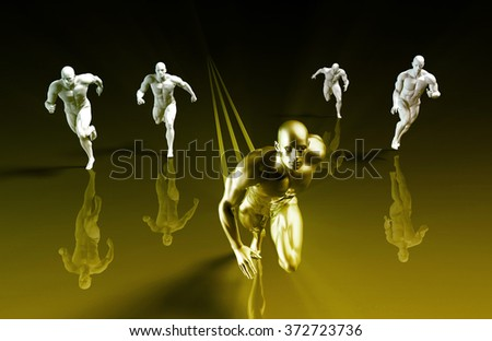 Winning the Race as a Business Concept with Skill - stock photo