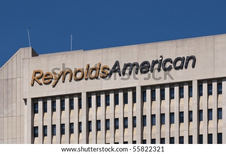 WINSTON-SALEM, NC - JUNE 14: The Reynolds American headquarters on June 14, 2010 in Winston-Salem, NC. The FDA Tobacco Control Act went into effect June 22, 2010.