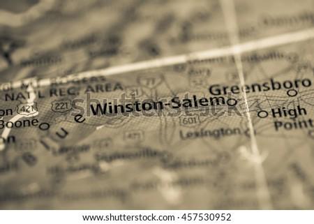 Winston-Salem. North Carolina. USA - stock photo