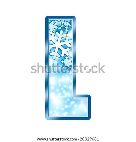 Winter Alphabet Letter L - stock photo