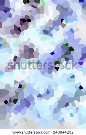 Winter at a glance: Bright crystallized snowy abstract of irregular polygons interlocked like pieces of a jigsaw puzzle - stock photo