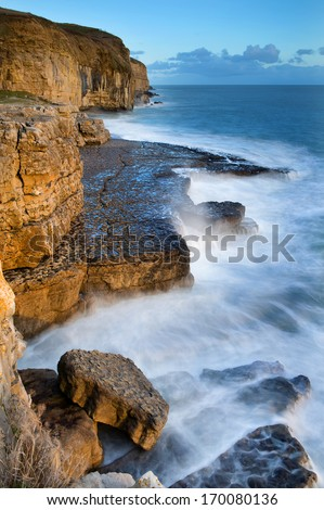 Winter at Dancing Ledge, Dorset, UK