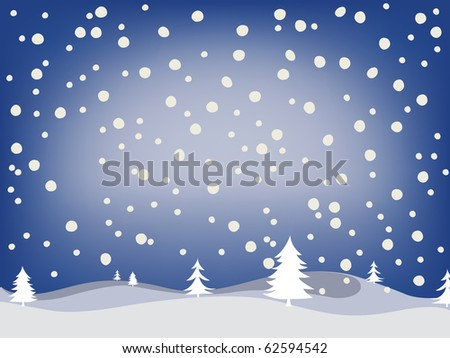 winter background, abstract art illustration; for vector format please visit my gallery