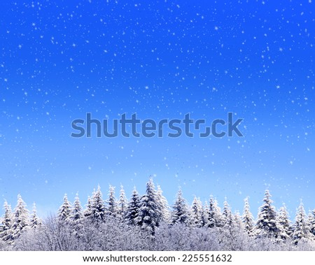 Winter background and snowfall.