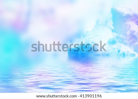 Winter. Background of snow. - stock photo
