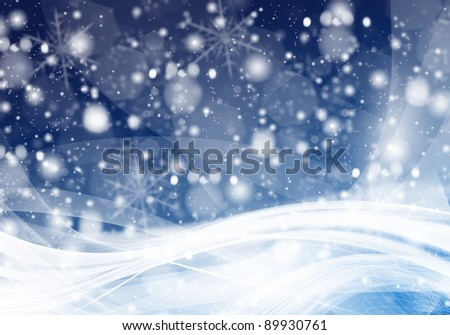 Winter Background Set - stock photo
