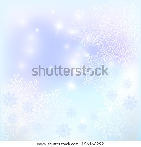 Winter background. Snowflakes and glare. - stock photo