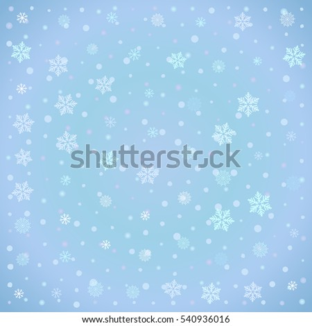 Winter background with snow-flake, editable for your design