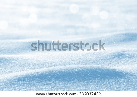 Winter background with snowdrifts and brilliant snow - stock photo