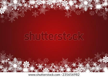 winter background with snowflakes.