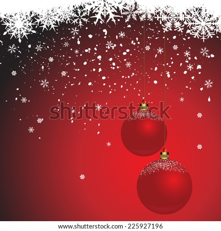 Winter background with snowflakes - illustration - stock photo