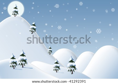 Winter beautiful scene - stock photo