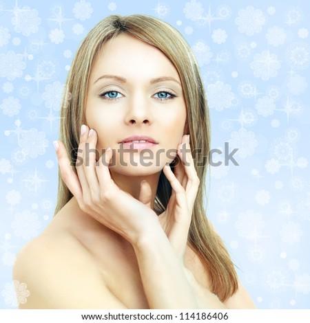 Winter beauty - fashion woman - stock photo