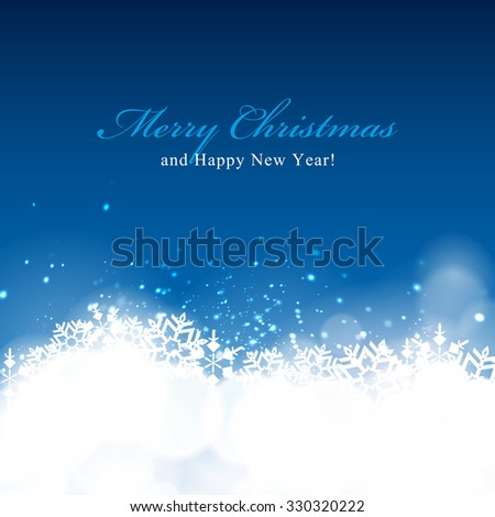 Winter bokeh background. Holiday background. - stock photo