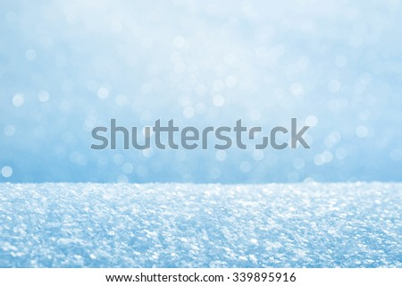 Winter bright background from fluffy brilliant snow - stock photo