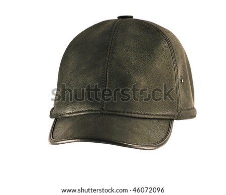 Winter cap on a white background