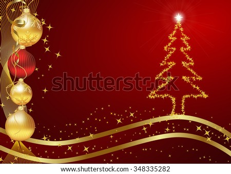 Winter celebration background. Red shiny winter background for Christmas and New Year. Copy-space for your own text.