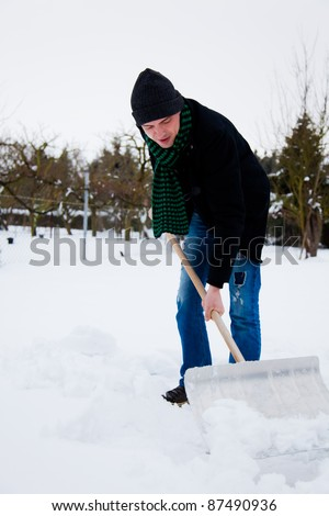 winter chaos - stock photo