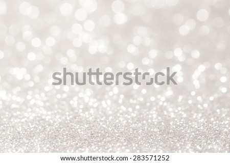 winter christmas bokeh lights defocused. abstract background - stock photo