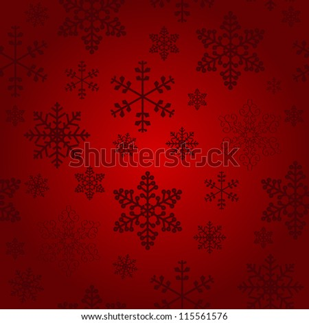Winter christmas new year seamless pattern /beautiful texture with snowflakes Raster version - stock photo