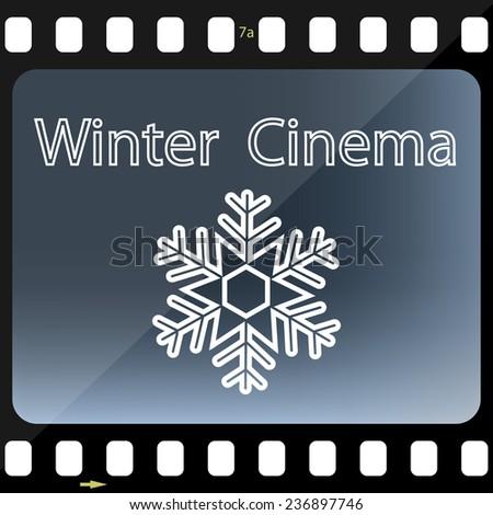 Winter Cinema - stock photo