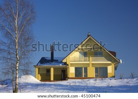 Winter Cottage - stock photo