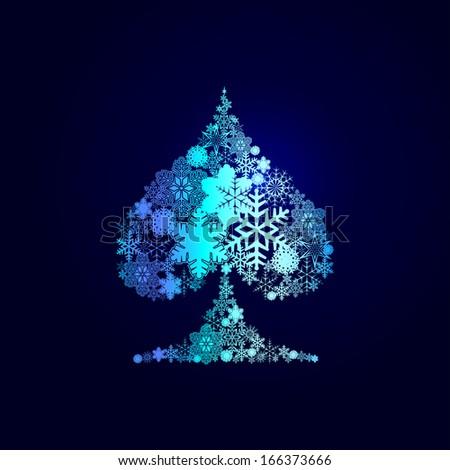 Winter decorations. Symbols of snowflakes - stock photo