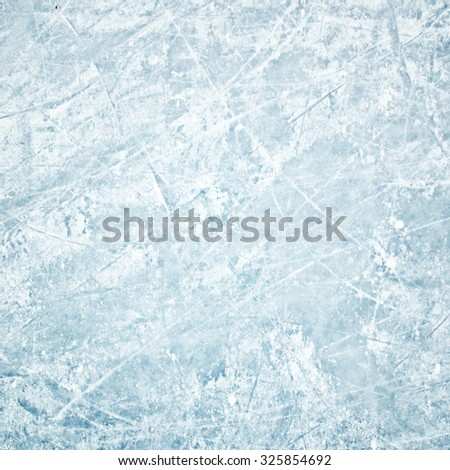 Winter field of ice path - stock photo