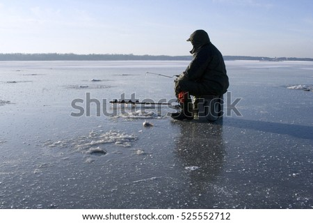 Ice fishing stock photos royalty free images vectors for Frozen fishing pole