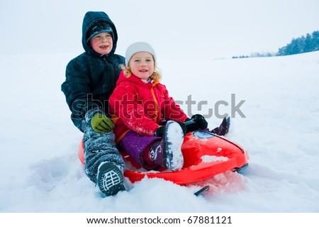 winter-fun - stock photo