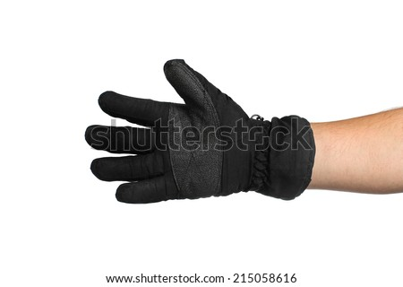 Winter glove on a white background - stock photo
